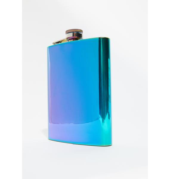 Hardly Working Metallic Flask