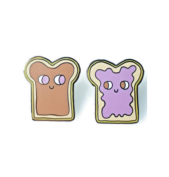 Valley Cruise Press Peanut Butter And Jelly Pin Set