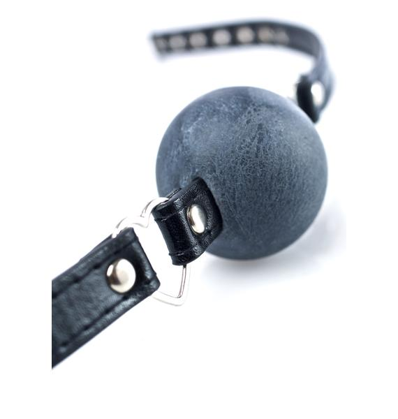 NecroLeather Get A Heart On Ball Gag