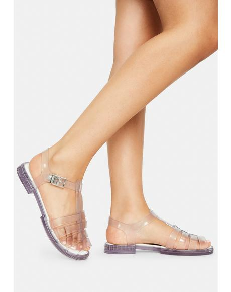 Glass Olly Jelly Sandals