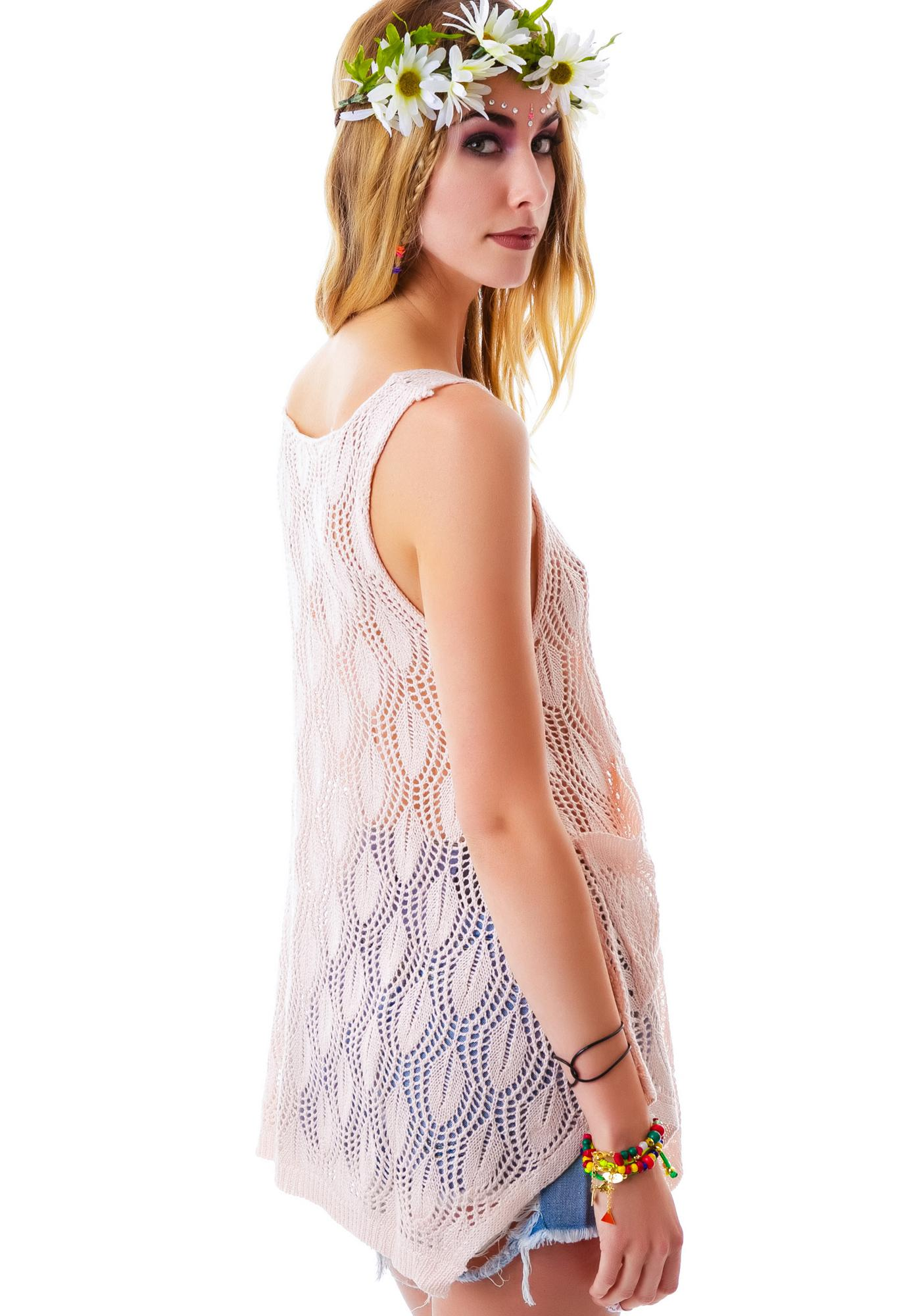 Peachy Petal Knit Tank