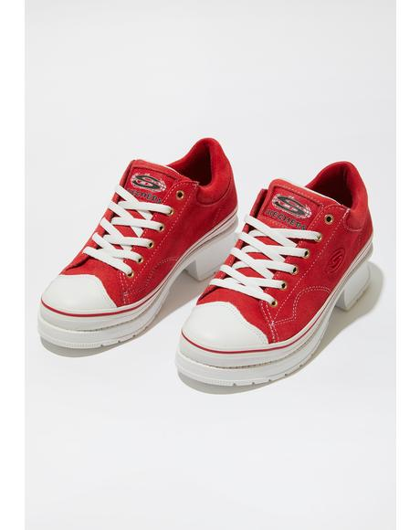 Red Softy Heartbeats Sneakers