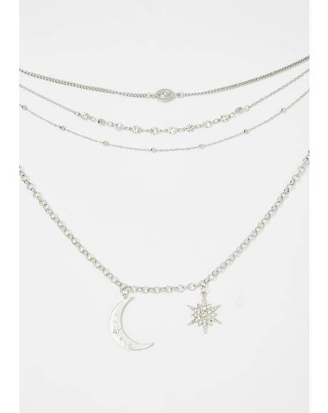 Celestial Charm Layered Necklace