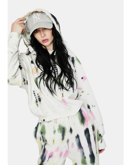Blanc Watercolor Tie Dye Sala Hoodie