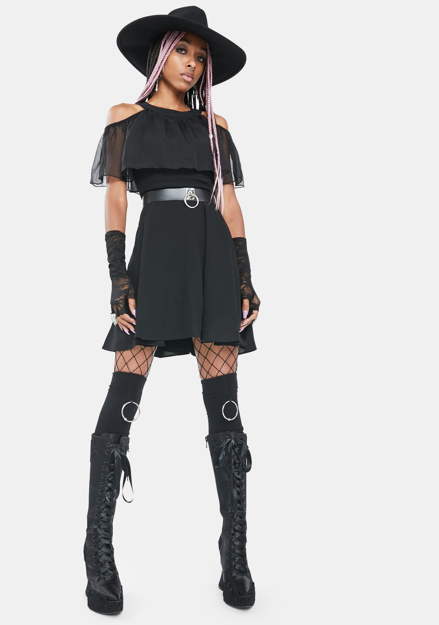 Punk Rave Intangible Moth Mini Dress
