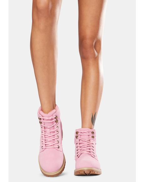 Pink Mantle Hi 6-Inch Boots