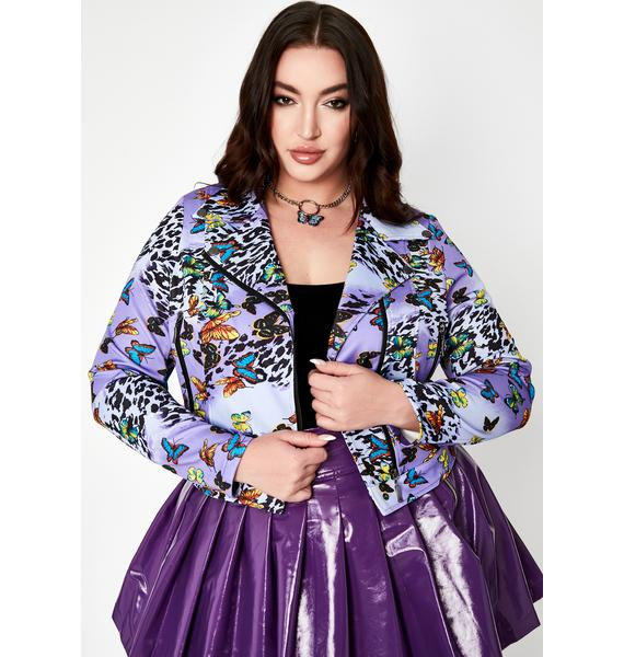 Fairy Her Fluttering Euphoria Moto Jacket