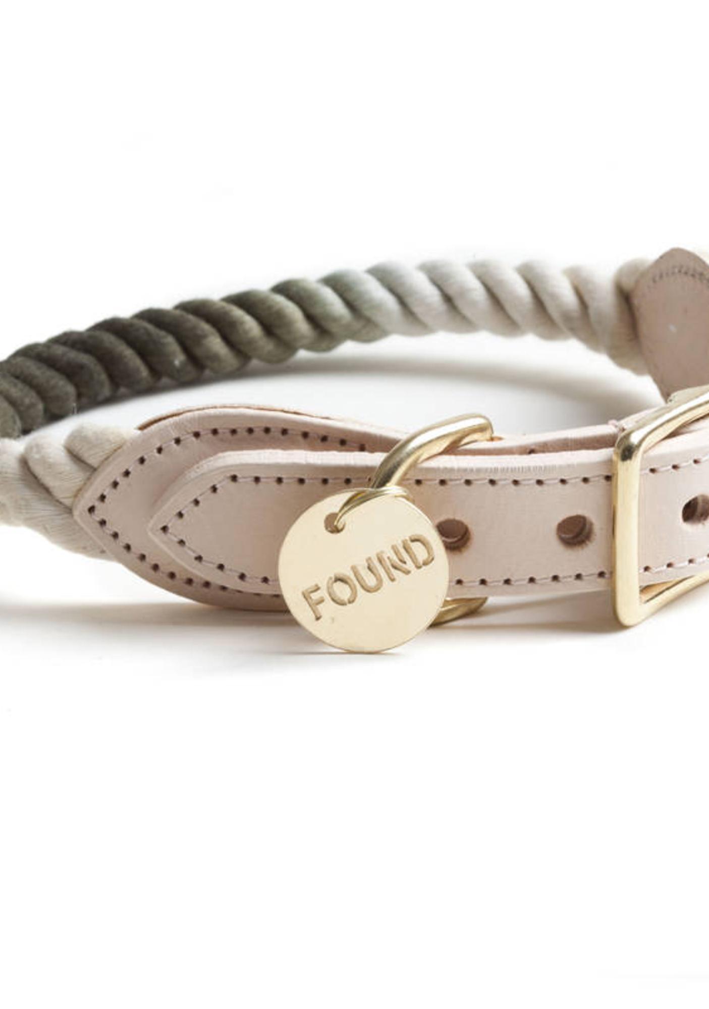 Ombre Fade Brass Dog Collar