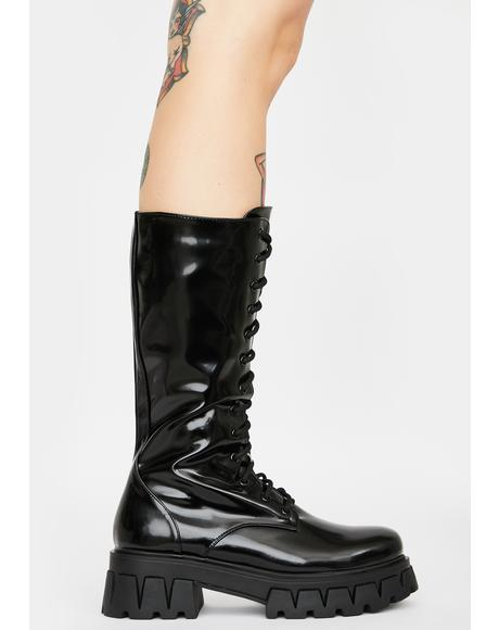 Trinity Patent Calf High Boots