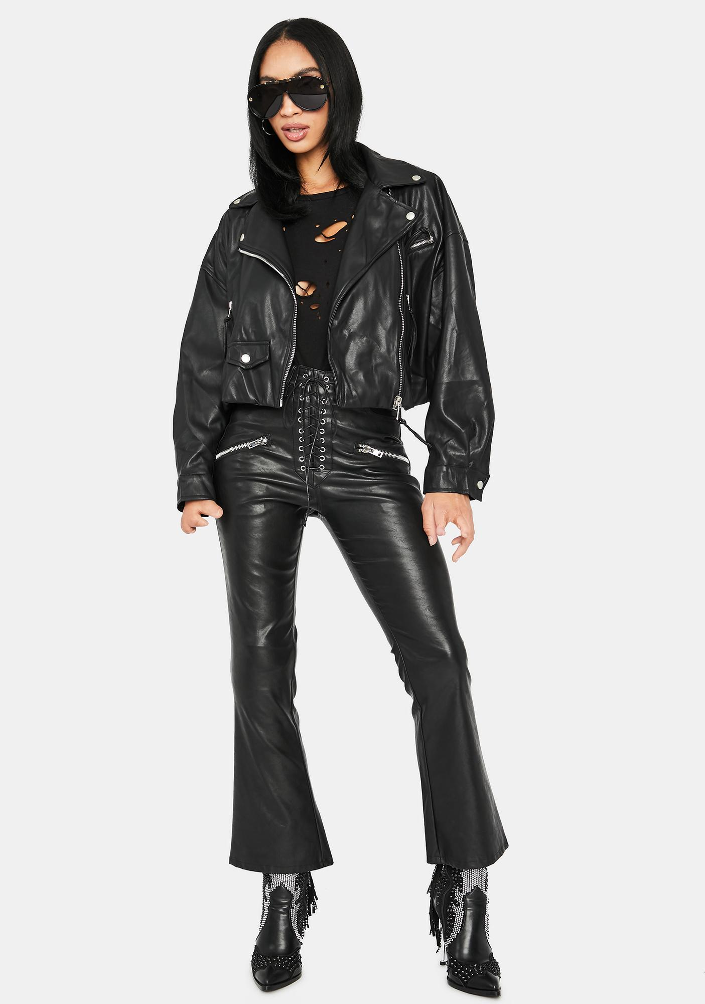 Leader Of The Pack Cropped Moto Jacket