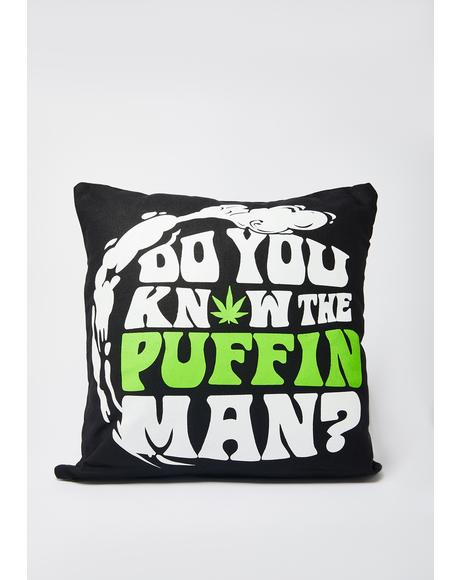 Puffin Man Pillow