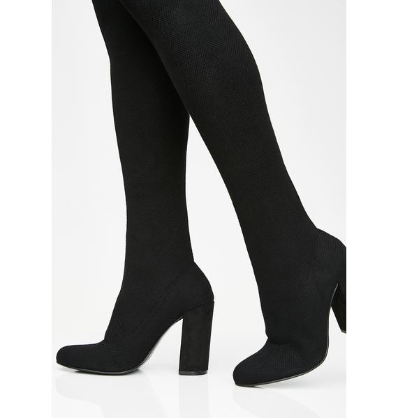 Chinese Laundry Midnight Beloved Knit Boots
