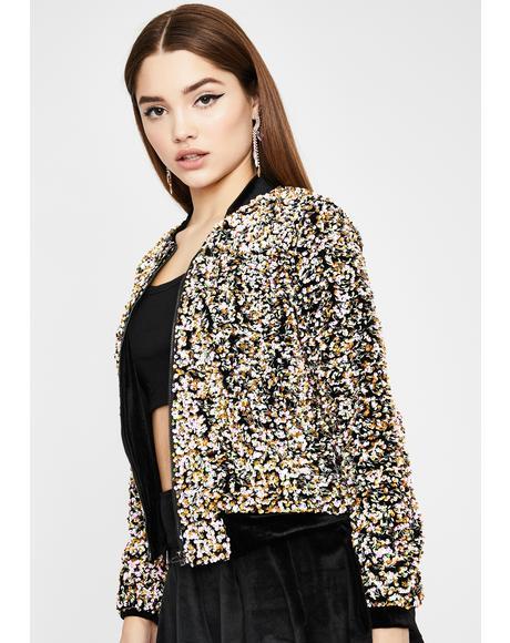 Sparkling Life Sequin Jacket