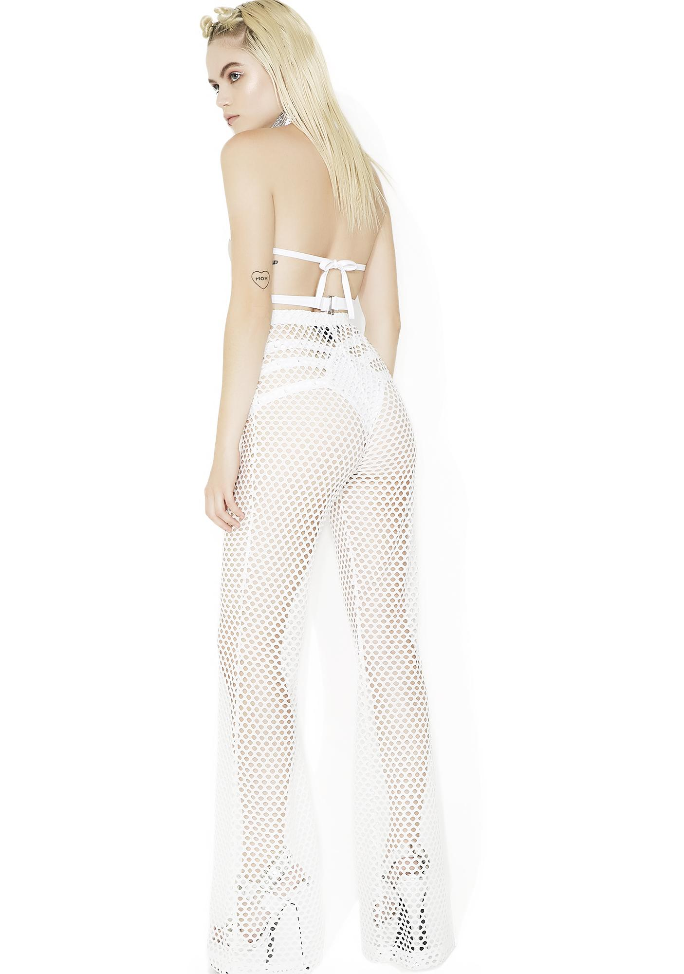 Tripp NYC Mary Q Mesh Flare Pants