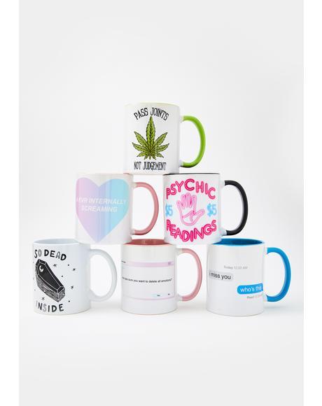 I Miss You Text Coffee Mug