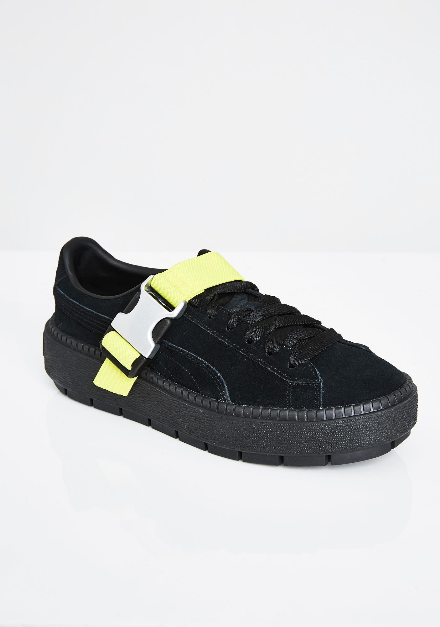 11fe587d6ece PUMA Platform Trace Buckle Sneakers  PUMA Platform Trace Buckle Sneakers ...