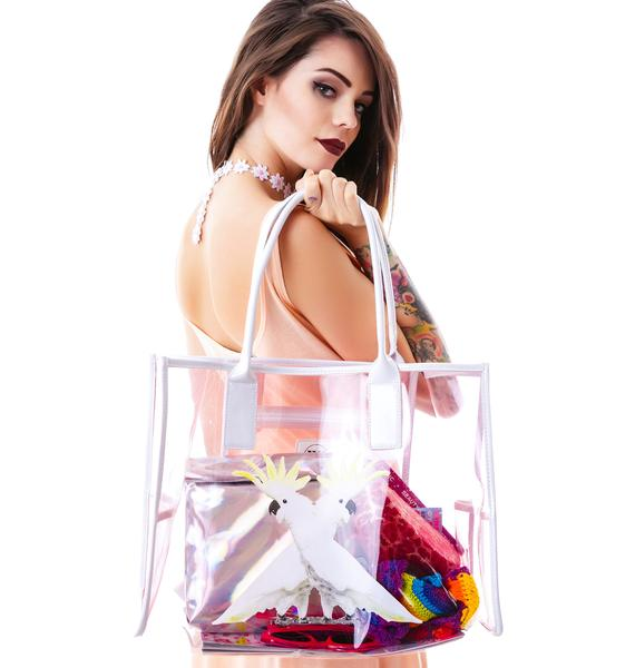 Wildfox Couture Two Cockatoo Vinyl Tote