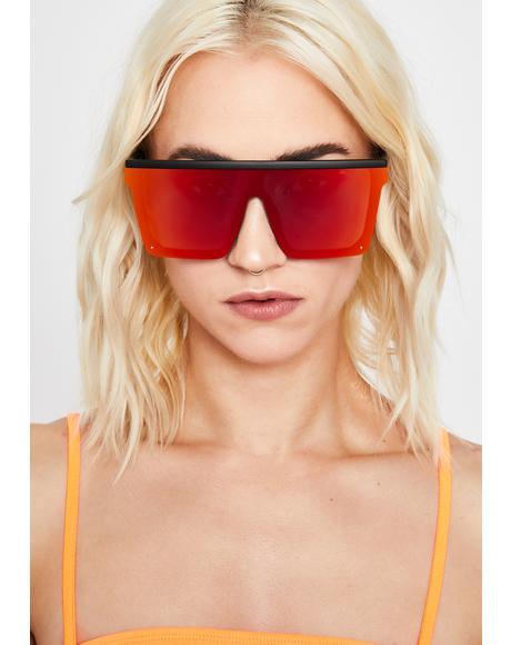 Juicy Trinity Emblem Shield Sunglasses
