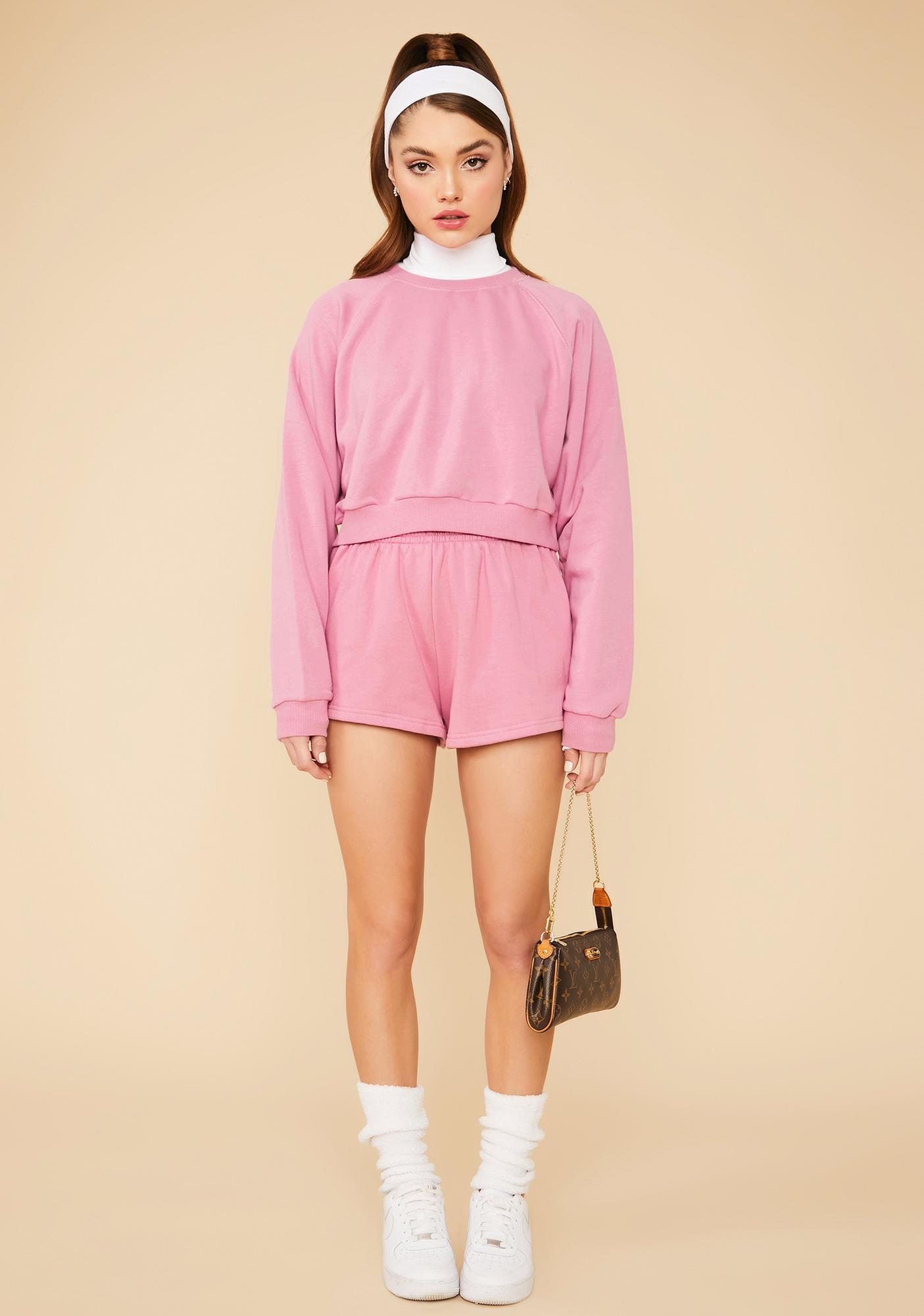 Orchid Calling Crazy Elastic Waist Shorts