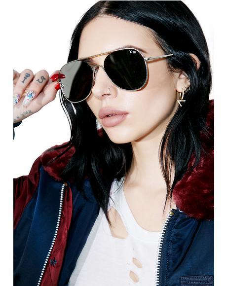 Jenna Silver Sunglasses