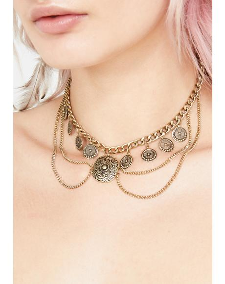 Sunset Paradise Chain Necklace