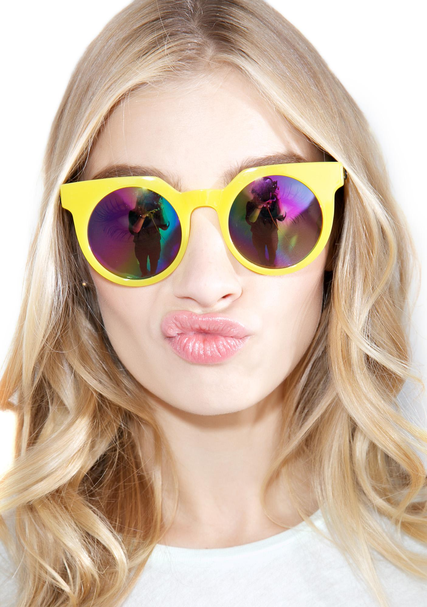 Quay Eyeware Lemonade Frankie Sunglasses