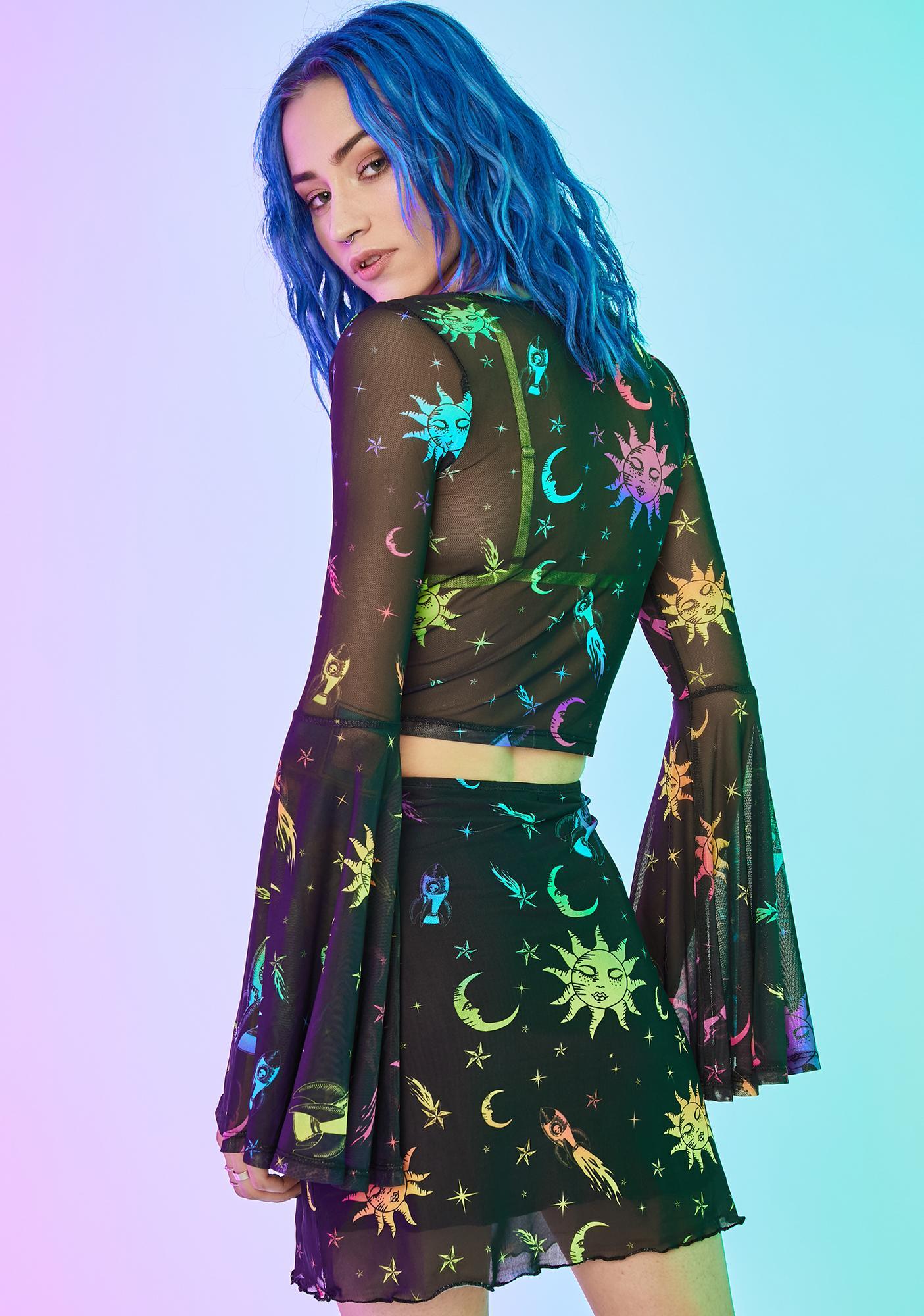 Current Mood Celestial Magic Mesh Skirt