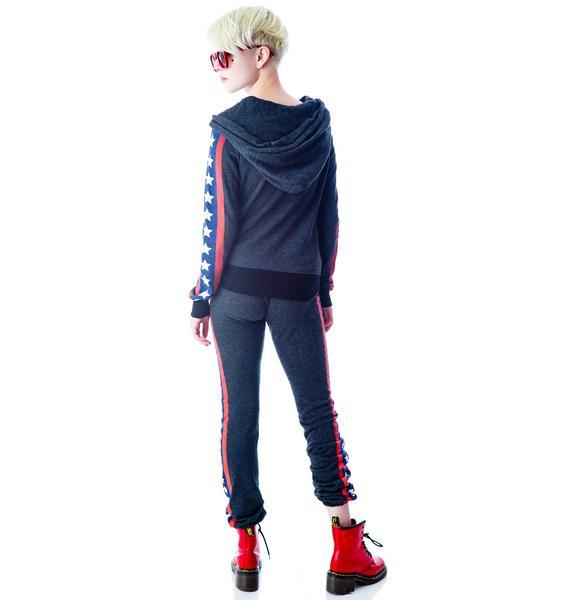 Wildfox Couture Let's Race Malibu Skinny Sweats
