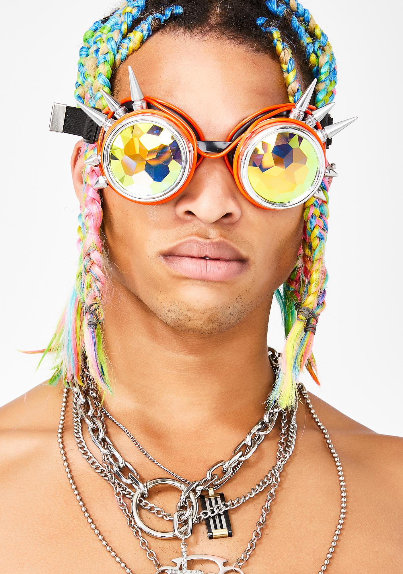 GloFX Spike Light Up Kaleidoscope Goggles