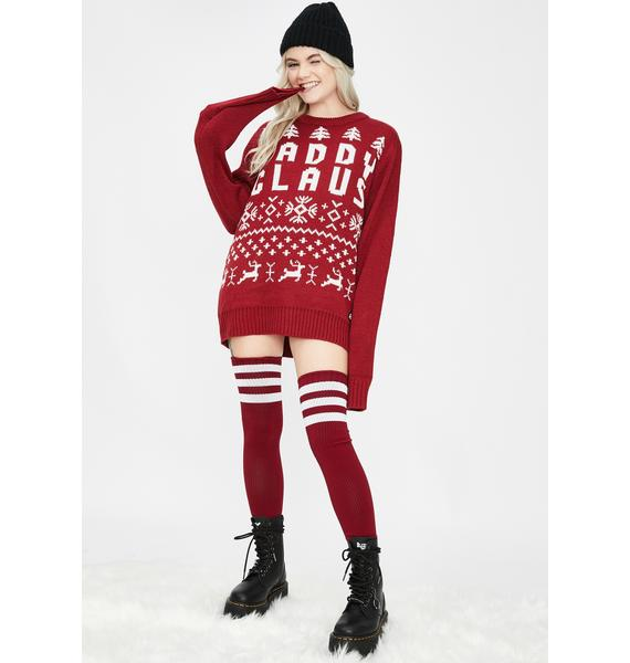 American Stitch Daddy Claus Christmas Sweater