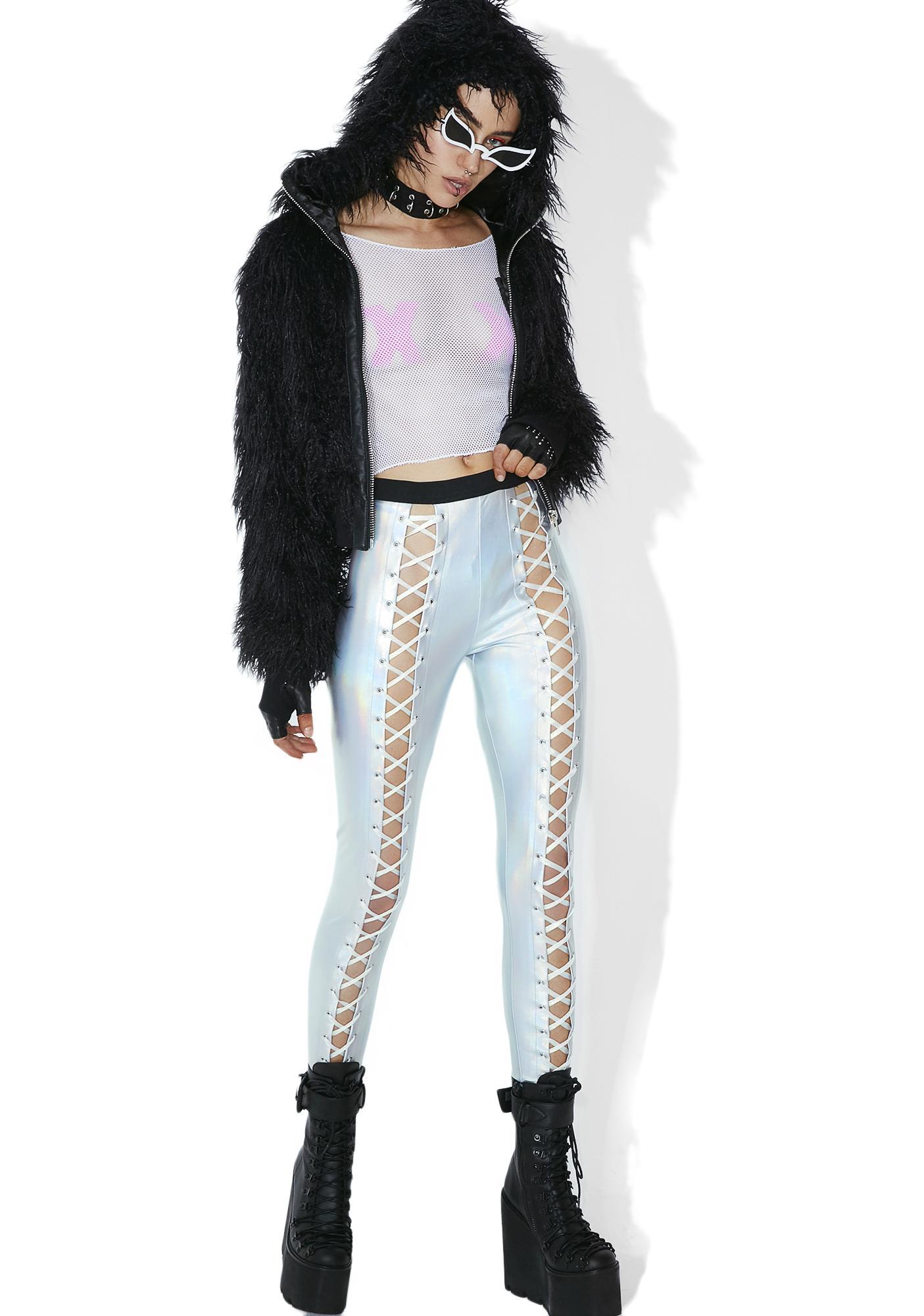 Club Exx Holographic Nancy Corset Leggings
