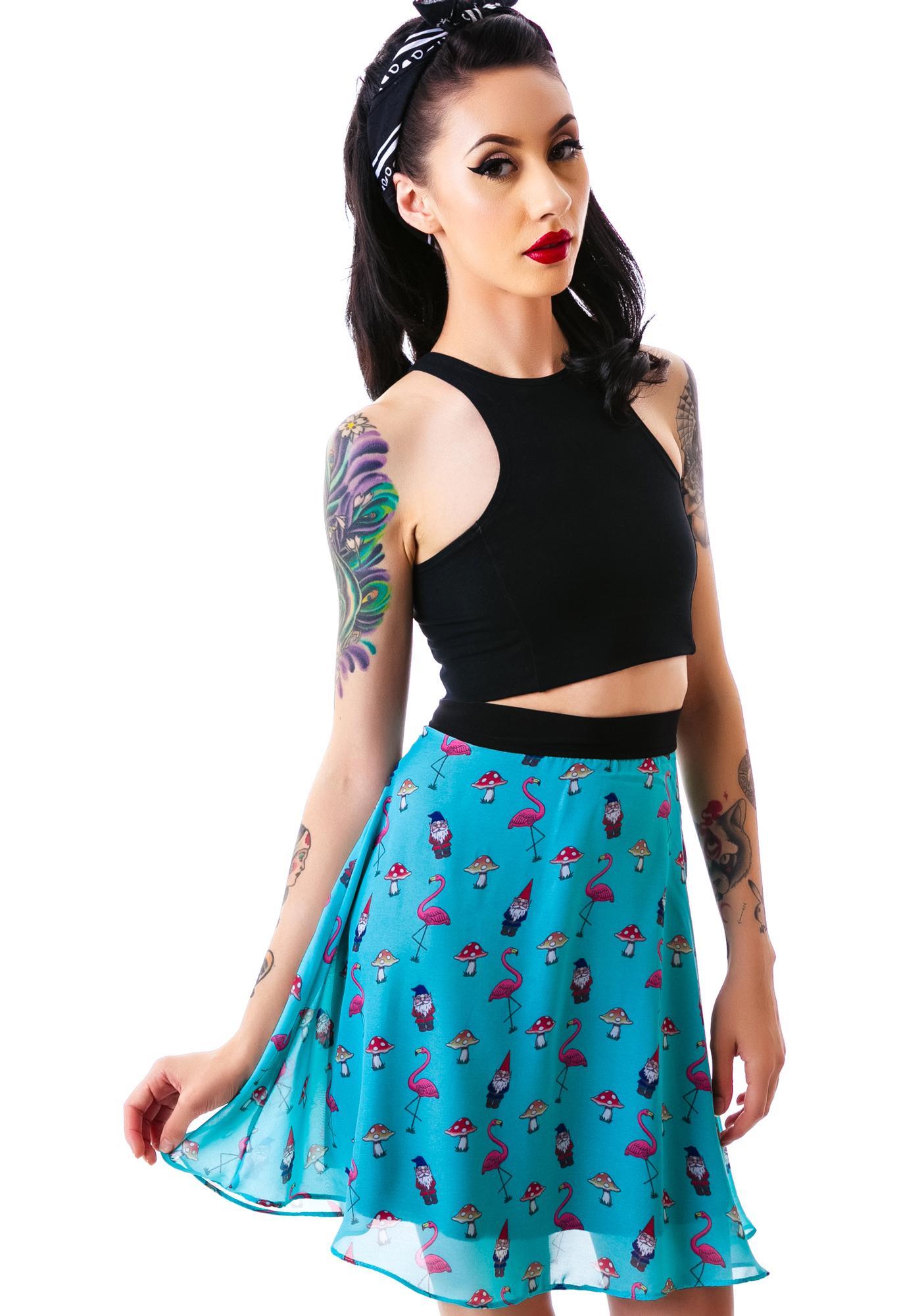 Flamingo Apron Skirt