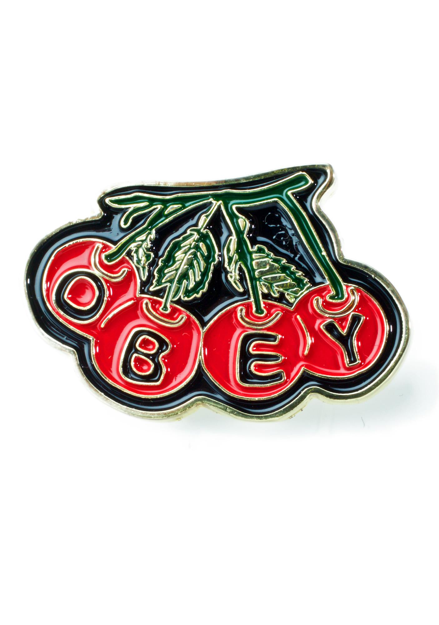 Obey Cherry Pin