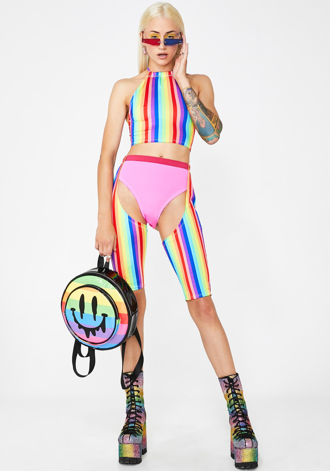 Em's The Label Rainbow Halter Top
