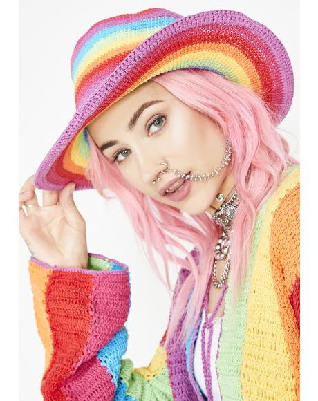 Rainbow Floppy Hat
