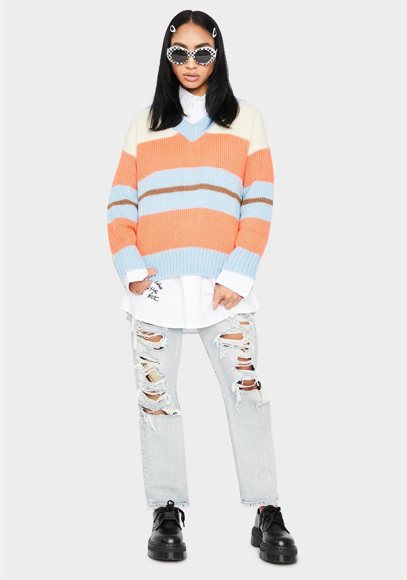 Foxy Fire Striped Sweater