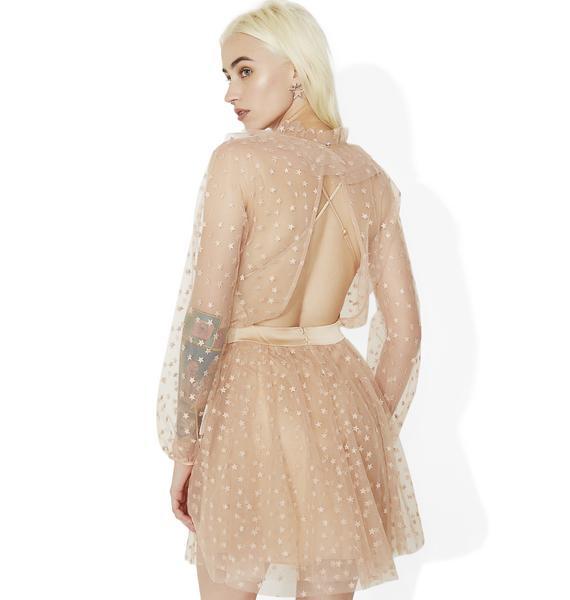 For Love & Lemons All That Glitters Mini Dress