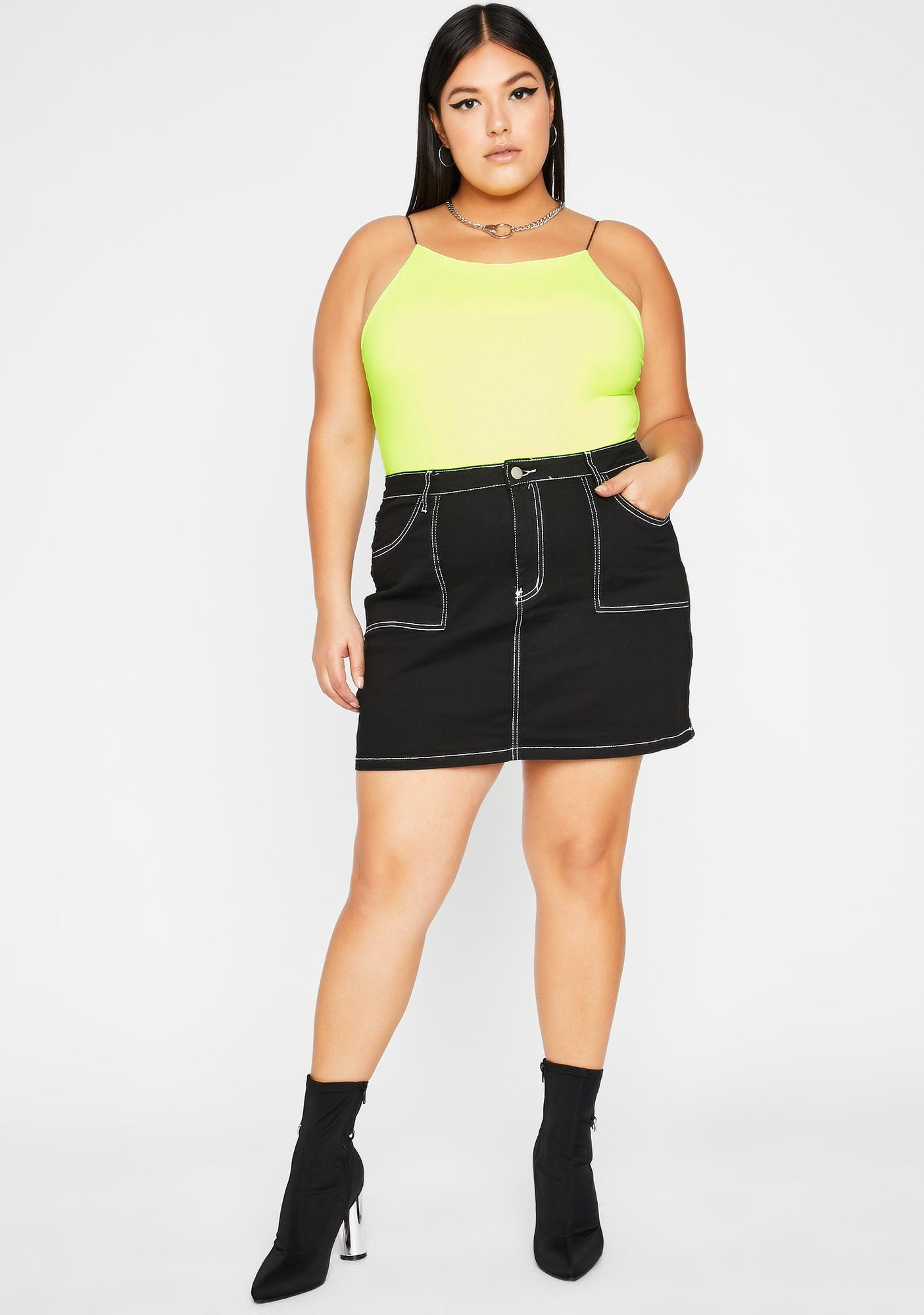 Totally Livin' Lit Cami Bodysuit