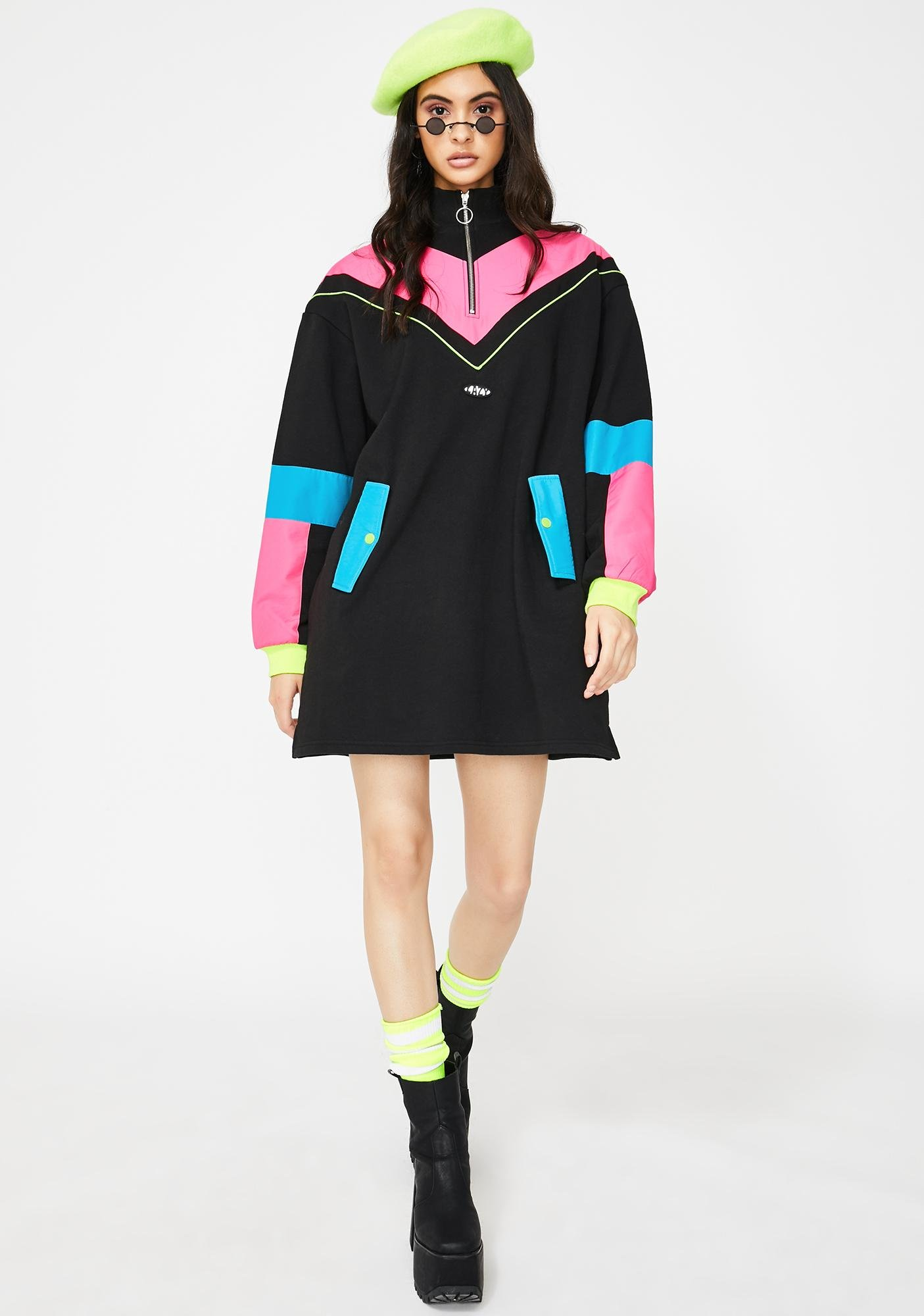 Lazy Oaf Game Face Sweater Dress