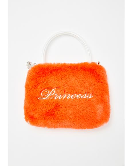 Tiara Trouble Fuzzy Purse