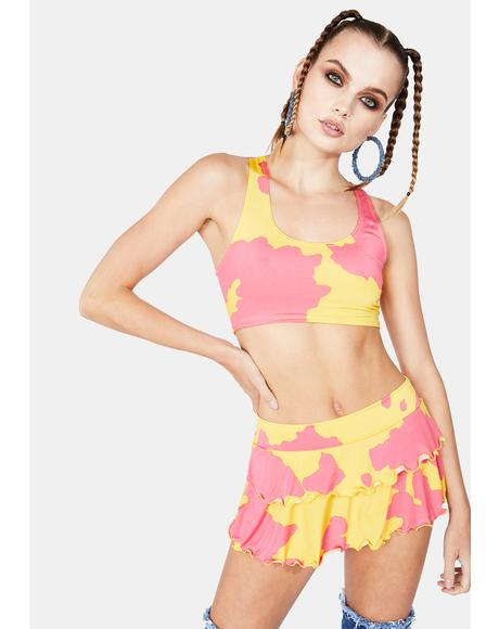 Strawberry Chemical Reaction Skirt Set