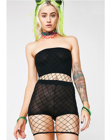 Regretful Net Dress