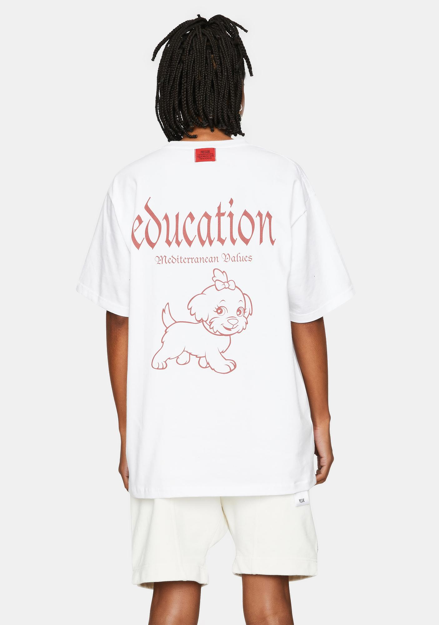 Pressure Clothes White Education Graphic Tee