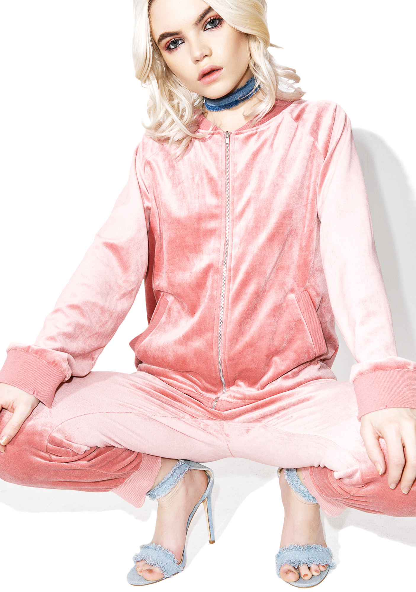 Pink Velour Jacket