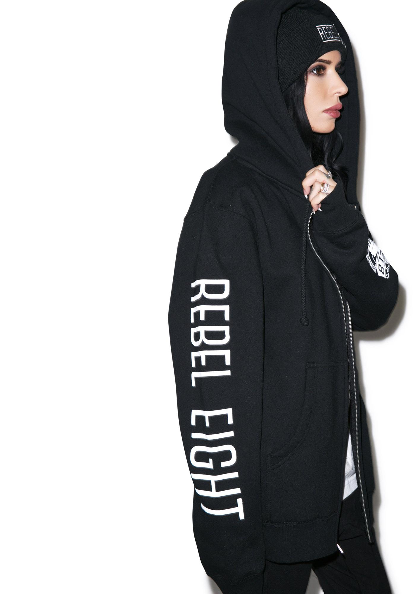 Rebel8 Infiltrate Destroy Zip Hoodie