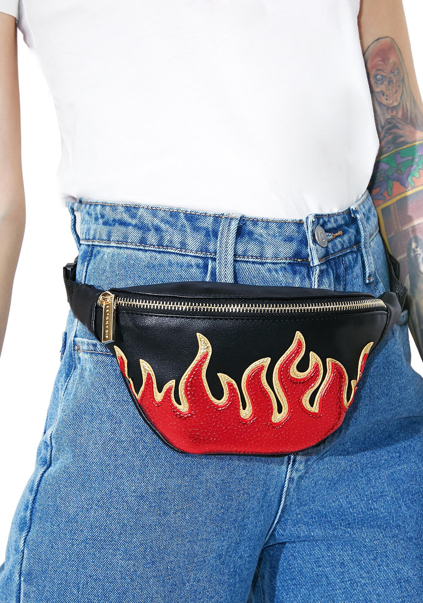 Skinnydip Flame Detail Bumbag
