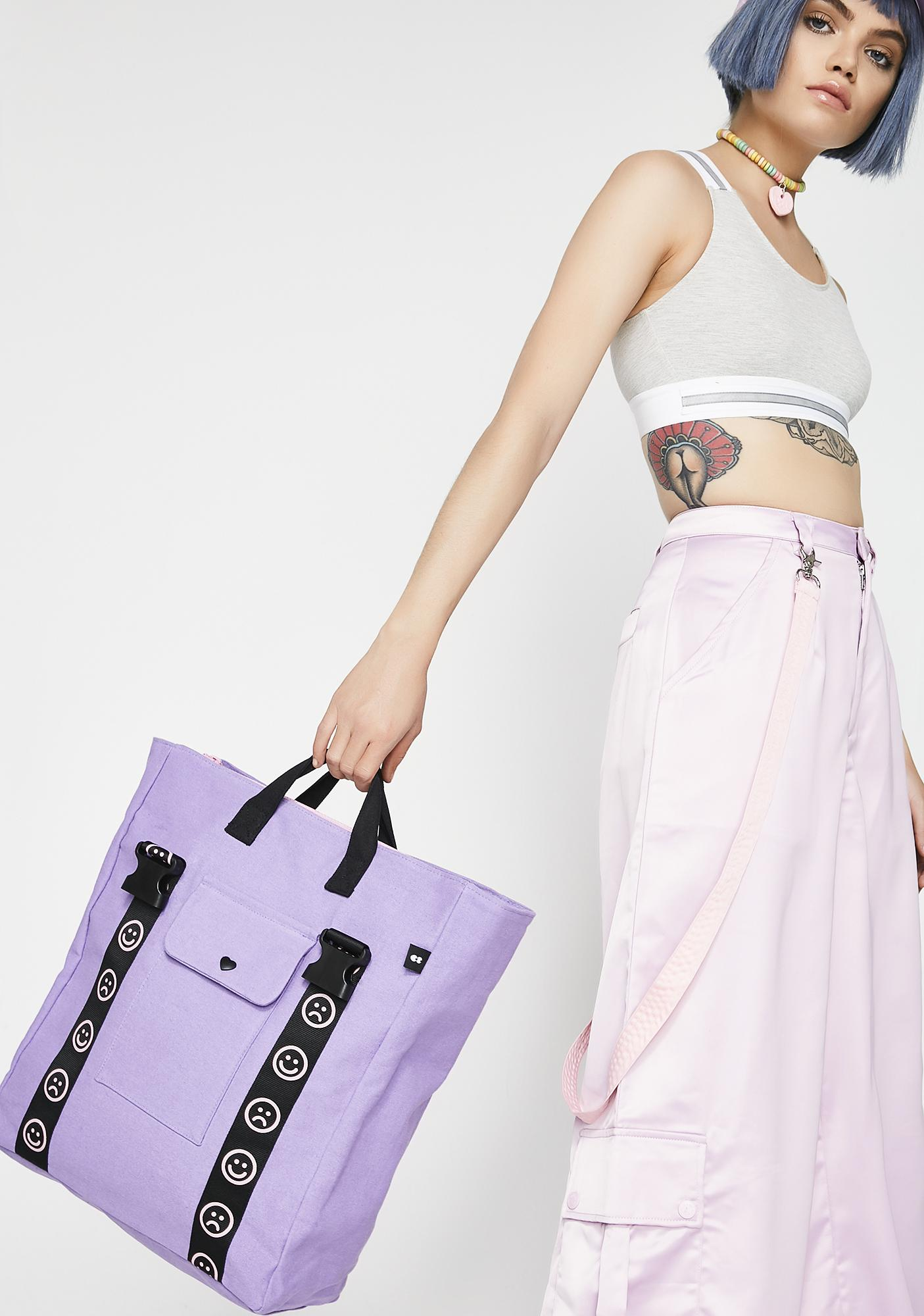 Lazy Oaf Happy Clasp Canvas Bag