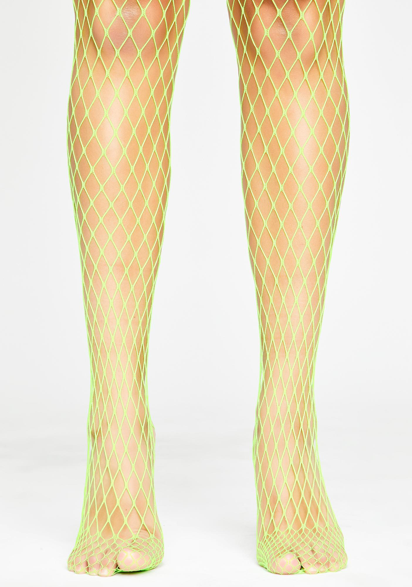 Atomic Slay Queen Fishnet Tights