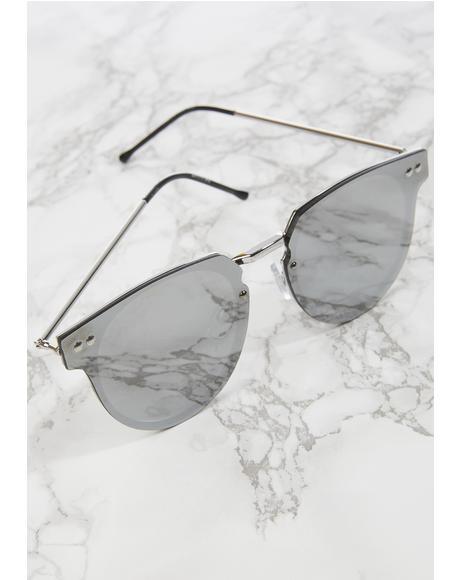 Silver Cyber Sunglasses