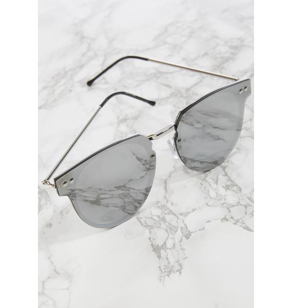 Spitfire Silver Cyber Sunglasses